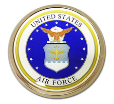 AIR FORCE  3.5  INCH MILITARY  MEDALLION EMBLEM - $36.09