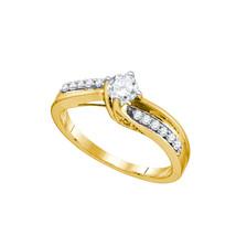 14k Yellow Gold Round Diamond Solitaire Bridal Wedding Engagement Ring 1... - $900.00