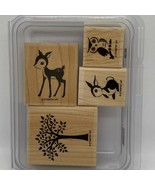 Forest Friends Stampin' Up! Wood Mounted Stamp Set - $9.60