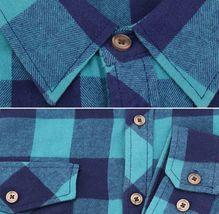 Men's Premium Cotton Button Up Long Sleeve Plaid Comfortable Flannel Shirt image 7