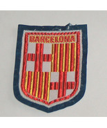 Barcelona Spain Sewn, Embroidered World Travel Patch - $9.39