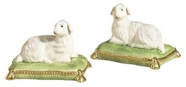 Throw Pillow CHELSEA HOUSE Lambs Green White Pair Ceramic - ₨9,312.76 INR