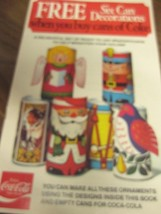 Coca Cola Lot of 10 - Can Decorations/Ornament Stickers   Free Shipping - $51.98