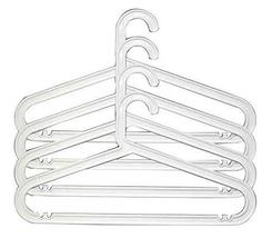 Black Temptation Set of 20 Plastic Small Cloth Hangers Mini Hangers [White] - £28.68 GBP