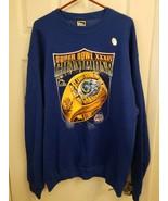 Mens St. Louis Rams Super Bowl XXXIV Champions Sweatshirt Size XL Hologram - $38.15