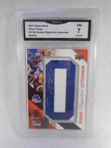 2011 Upper Deck #83 Titus Young Auto Rookie Signature Letterman GMA Grad... - $4.94
