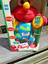 New Box Vintage Teach Me Elmo Original 90's 1996 Tyco Plush Doll Sesame Street image 2