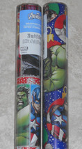 USA MARVEL AVENGERS HULK  Christmas Wrapping Paper Red Blue 20 SQ FT ROLL - $4.75+