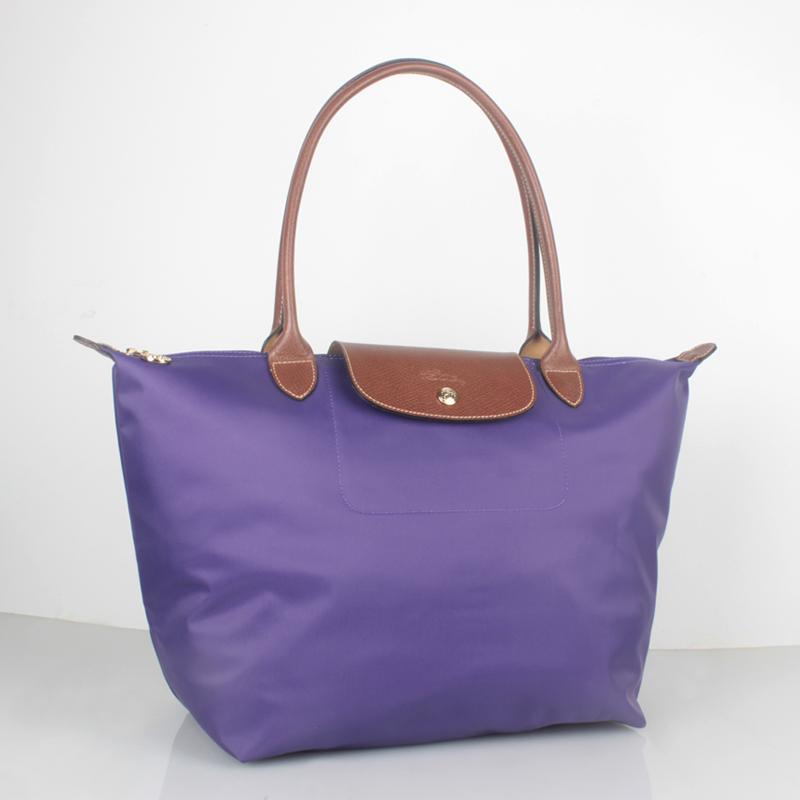 6931ee6c6c261 France Made Longchamp Le Pliage Large Nylon Tote Bag Amethyst 1899089958  Auth