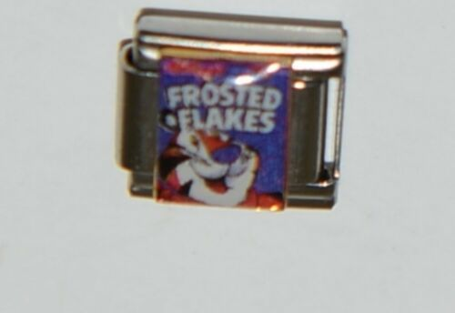 Casa Doro 9239 Frosted Flakes Box Charm Link Stainless Steel