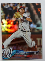 2018 Topps Chrome #146 Trea Turner Washington Nationals Refractor Baseba... - $3.00