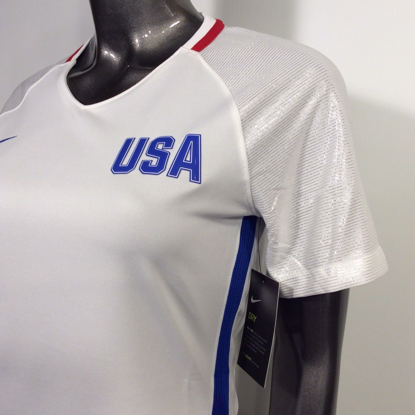 11a4ab77d 2016-17 US Soccer USA National Team Nike Dri-Fit XL Stadium Home Blank
