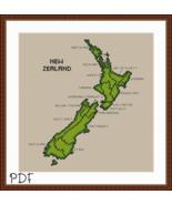 Cross Stitch Pattern Map of New Zealand, Cross Stitch Chart PDF Download - $3.32