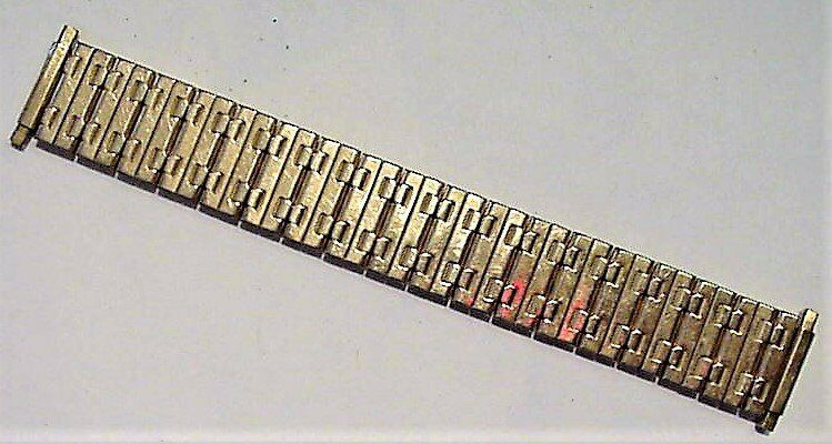 Primary image for Vintage Speidel Stretch Gold-Tone Watch Band NOS