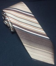Wemlon by Wembley Brown / Tan Stripes Men's Neck Tie Necktie - $8.06