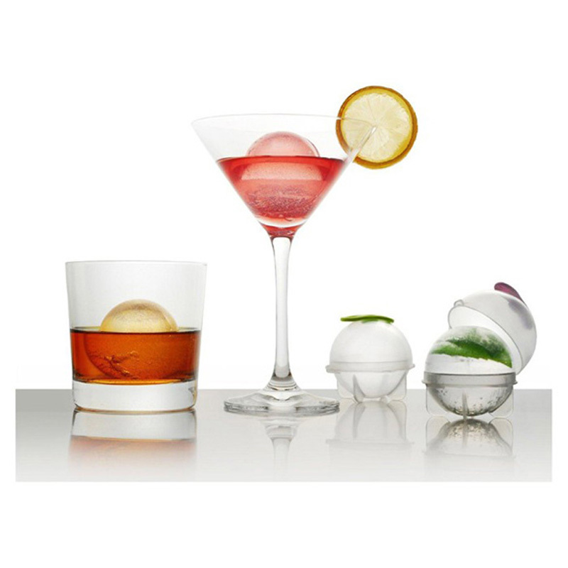 4pcs ice mold whiskey cocktail ice cube ball maker individual diy ice cube transparent ice mold