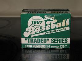 1987 Topps Traded Baseball Card Set 132 cards - MINT Greg maddux Rookie! - $6.95