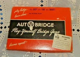 VINTAGE 1959 AUTO BRIDGE BEGINNER SET ~ PLAY YOURSELF BRIDGE GAME ~ COMP... - $14.80