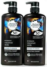 2 Bottles Herbal Essences Bio Renew 20.2 Oz Hydrate Coconut Milk Conditioner  - $30.99
