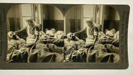 WWI, WOUNDED BELGIANS IN HOSPITAL, ANTWERP, BELGIUM, STEREOVIEWER CARD, ... - $7.87