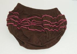 I love Baby Two piece Sun Top Ruffled Bloomers Hot Pink Brown Size 3 to4 T image 8