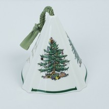 Spode Christmas Tree Ornament Bone China Conical Shape Green Tassel 2 1/... - $19.79