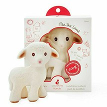 NIB caaocho Mia The Lamb Pure Natural Rubber Baby Teether Toy SHIP FREE - $14.80