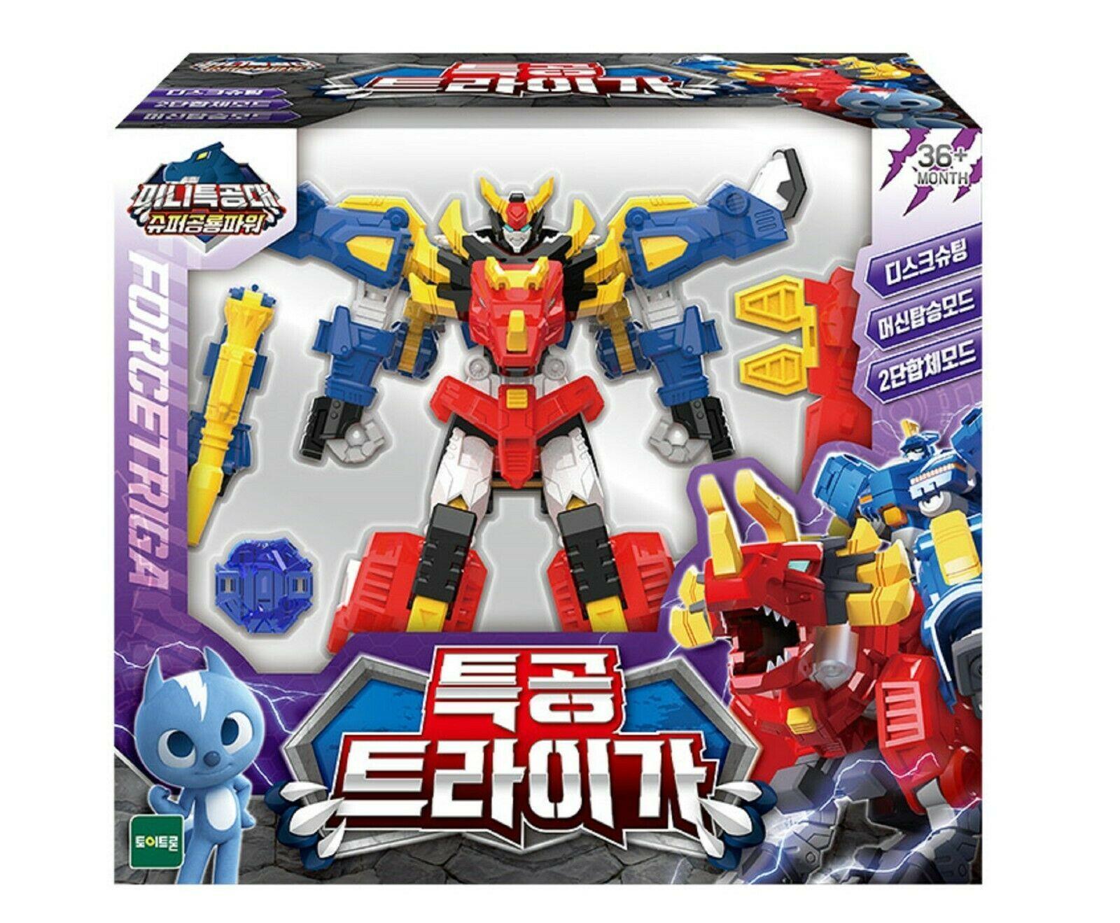 Miniforce Force Triga Super Dinosaur Power Action Figure Transforming Toy Robot