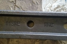 One Railroad train track 6 hole 36 inch 115RE rail toeless joint bar 136RE image 2