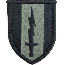GENUINE US ARMY PATCH: FIRST SIGNAL BRIGADE - EMBROIDERED ON ACU - PAIR - $18.79