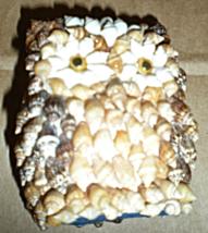 Owl Figurine Made Of Sea Shells - $6.00
