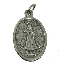 Child Infant Jesus of Prague Saviour of the World Cross Sterling Silver charm - $60.79