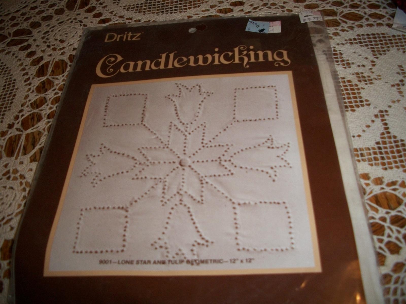 Dritz Candlewicking Kit 9001~Lone Star And Tulip Geometric - $14.00