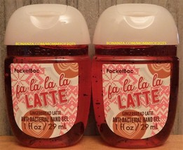 Pocketbac Fa La La La Latte Gingerbread Antibacterial Hand Gel Bath Body... - $5.50