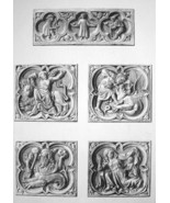FRANCE Rouen Cathedral Medieval Cartouches Dragons etc  - SUPERB 1843  P... - $30.60