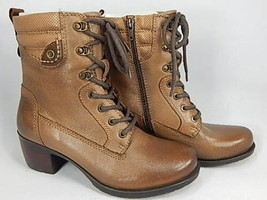 Earth Denali Anchor Size US 9 M EU 41 Women's Leather Lace-Up Mid Boots Walnut - $108.85