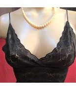 Joe Boxer Black Sheer Lace Camisole top NEW M - $13.95