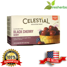 BLACK CHERRY BERRY REDUCE GOUT INFLAMMATION CAFFEINE FREE 20 HERBAL TEA ... - $7.92
