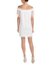 On Twelth Women White Off Shoulder Lace Shift Dress image 2