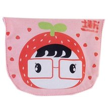 2 Lovely Strawberry Baby Cotton Gauze Towel Wipe Sweat Absorbent Cloth Mat Towel