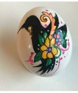 REAL Egg Handpainted Blown Egg Animal Silhouette Floral decor Easter Hum... - $6.25