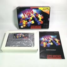 Tetris 2 SNES Super Nintendo 1994 Video Game in Box w/ Manual - $19.79