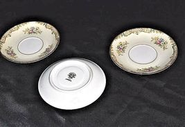 Noritake China - CARMELA 4732 Tea saucers AB 338-B   3 Piece Replacement Vintage image 3