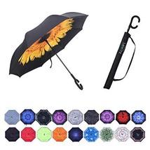 Umbrella,Large Inverted Reverse Windproof Waterproof Umbrellas sunflower - $17.51