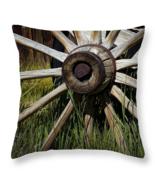 Spoked Wooden Wheel, Throw Pillow, fine art, home decor, accent pillow - $41.99 - $69.99