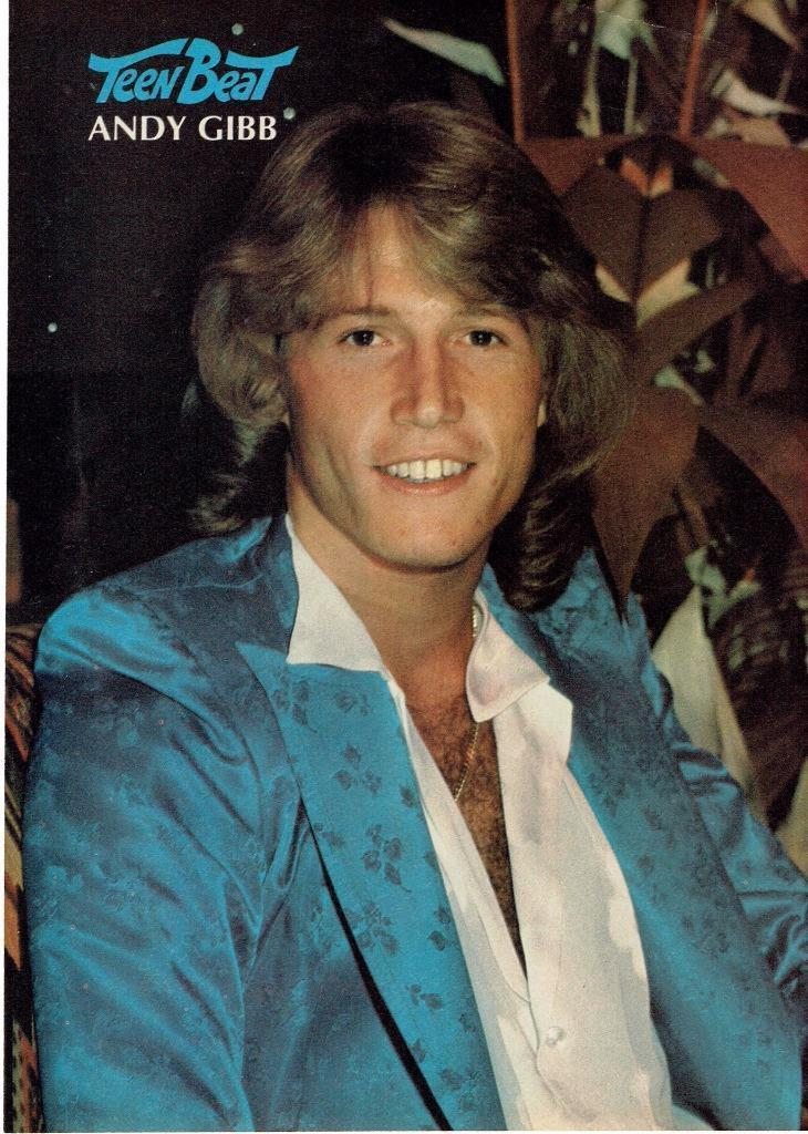 Andy Gibb teen magazine pinup clippings Tiger Beat Bop Teen Beat