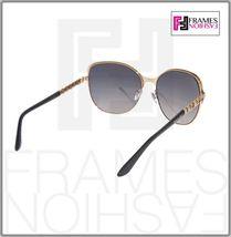 BVLGARI Le Gemme BV6078KB Black Gold 18K Plated POLARIZED Sunglasses 6078 Women image 4