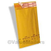 2500 4x8 #000 Ecolite Premium Kraft Bubble Mailers Padded Envelopes Bags - $210.00