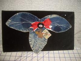 Shoulder Brooch Pin Badge Jean Fabric Las Vegas Dice Playing Cards Trink... - $35.53