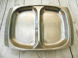 Mid Century Vintage Stainless Steel Two Compartment Serving Dish  Japan ... - $12.53